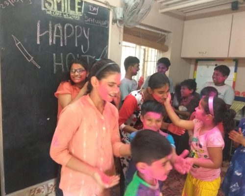 Students at UDAAN Enjoy Holi Celebrations
