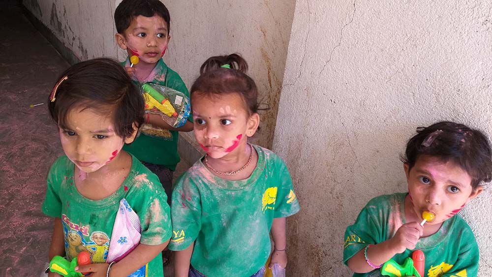 SMILE Montessori Children Celebrate Festival of Colours
